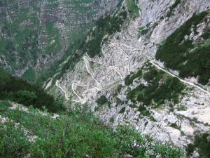 Descente vertigineuse sur Trenta