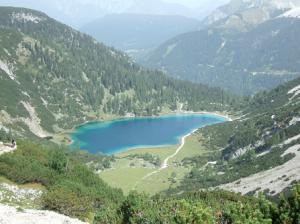 Lac de Seebensee , sous la Coburger Hütte.
